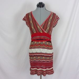 Wet Seal Sweater Dress Stripe Sash